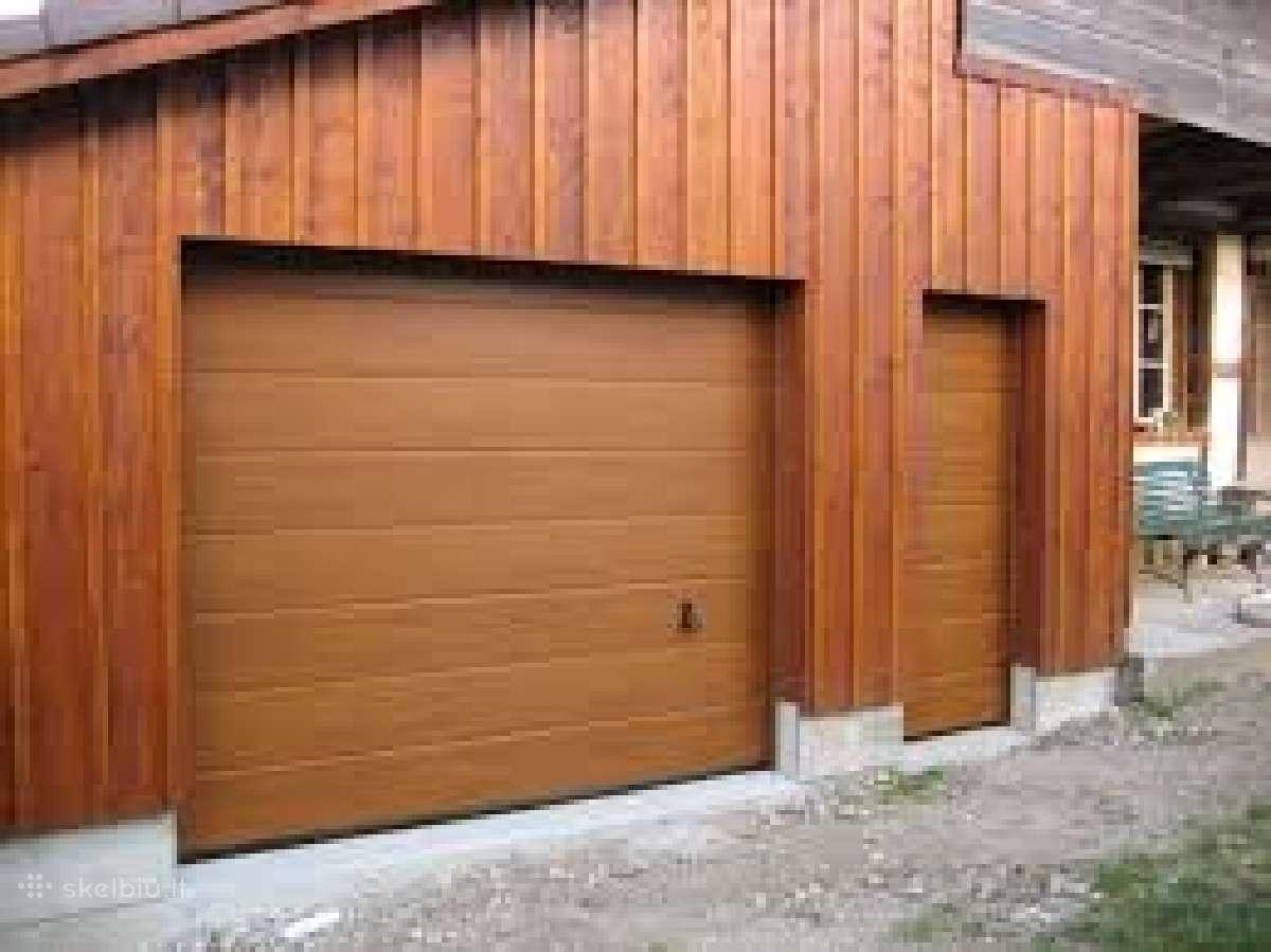 Garažo vartai pakeliami segmentiniai apšiltinti