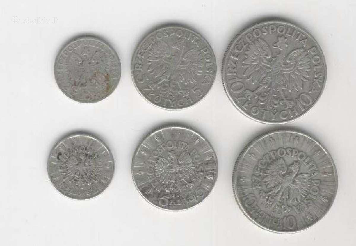 Lenkiskos sidabrines monetos