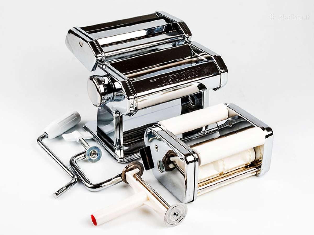 Makaronų gaminimo mašinėlė su ravioli priedu