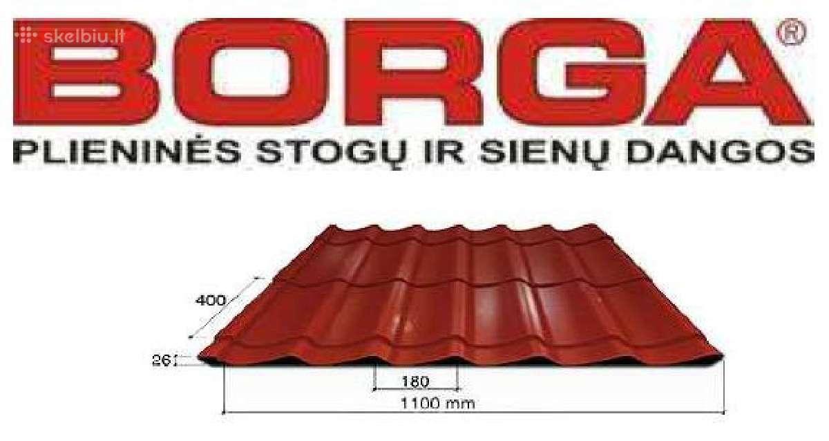 Plieninė stogo danga Borga Elegant čerpės imitacij