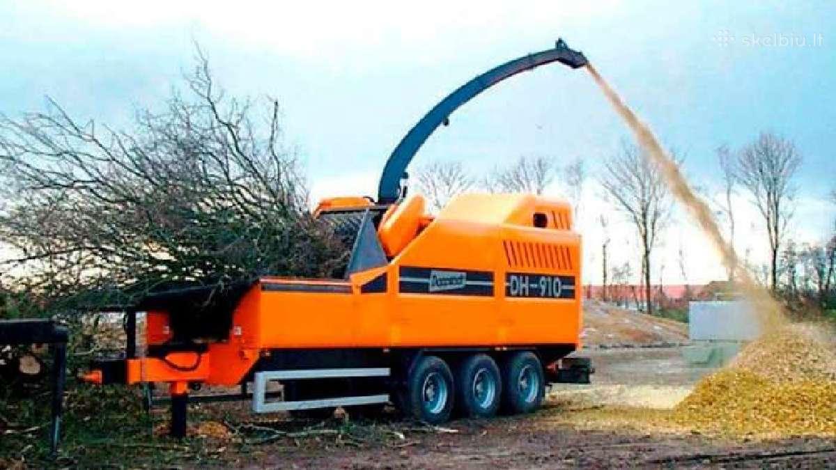 Apleistų sklypų tvarkymas, krūmų, medžių pjovimas
