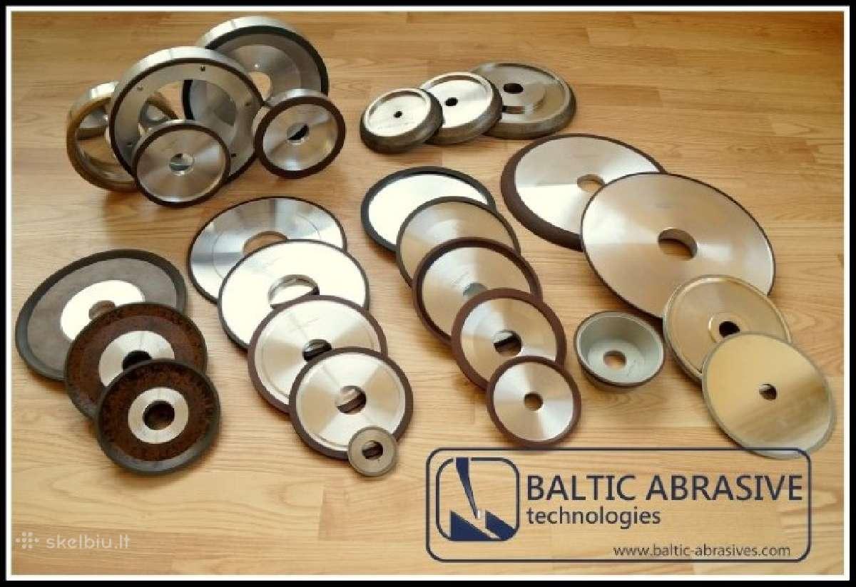 Deimantiniai ir elboriniai cbn diskai galandinimui