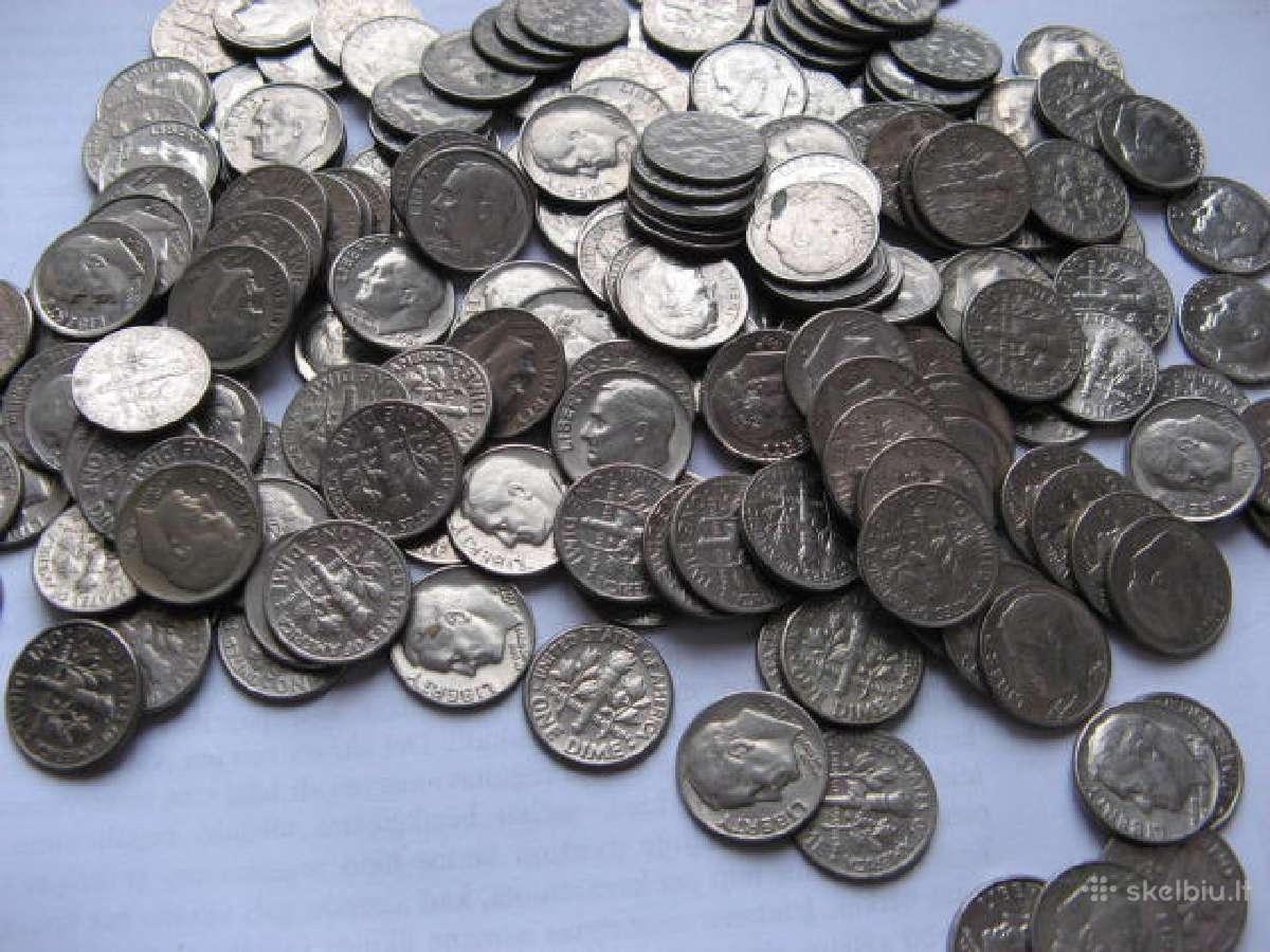 Amerikos centai ,one Dime ivairiu metu