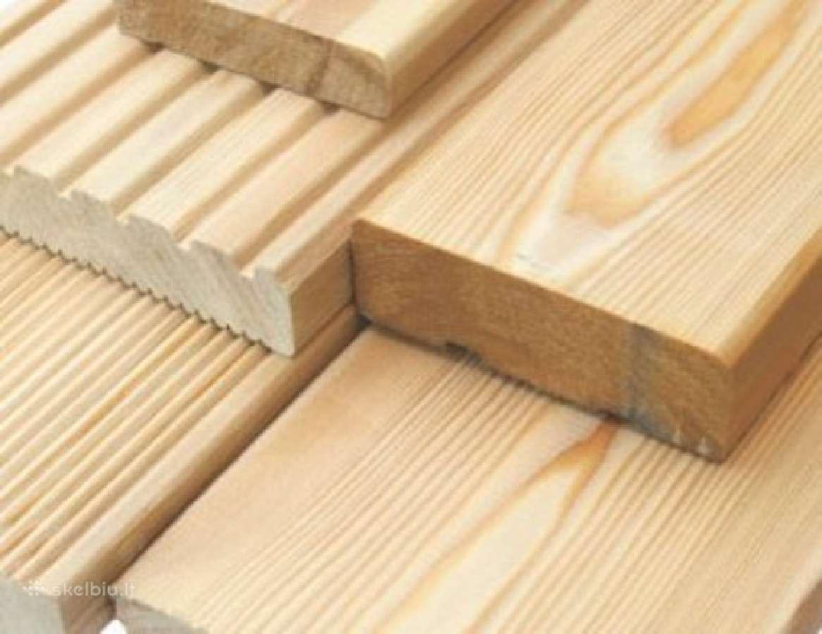 Dailylentės ir terasinės lentos,statybine mediena