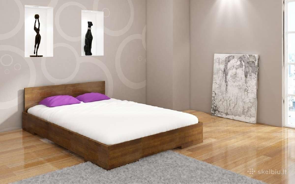 Skandinavisko dizaino medine lova Malmo