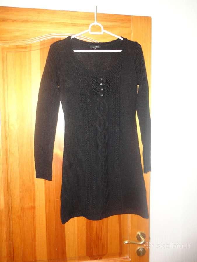 Juoda suknelė - tunika, tik 8 eurai Xs dydis