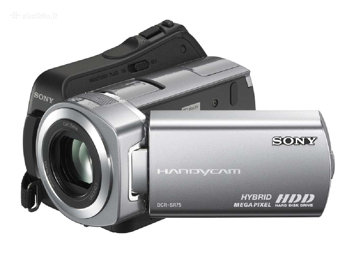 Skaitmeninė kamera sony dcr sr75e - 173 Eu. ir k.t