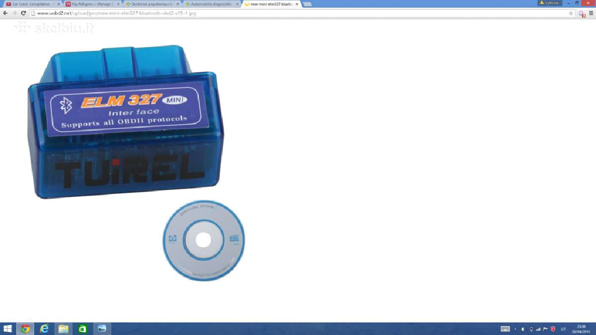 Mini Elm 327, Obd2 Bluetooth Elm327 interface
