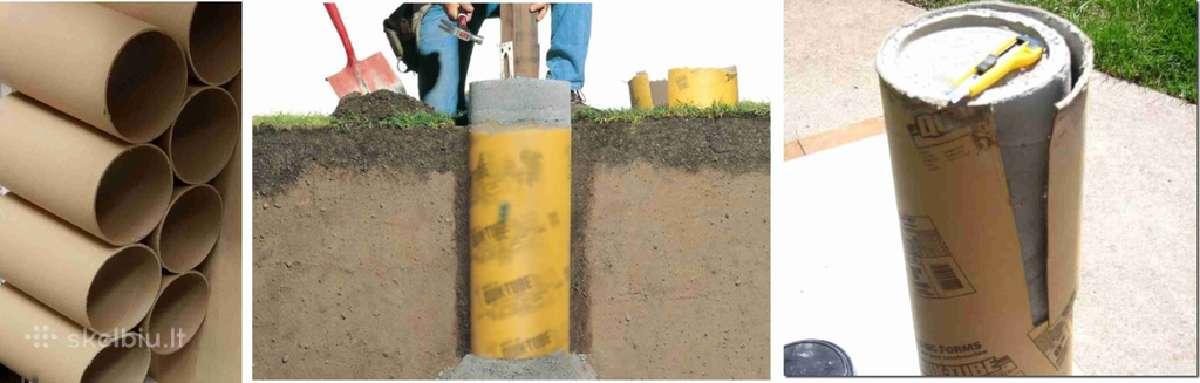 Tūtos - vamzdžiai-kolonos polių,atramų betonavimui