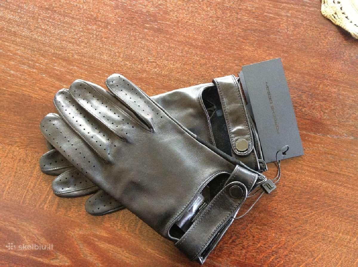 Porsche Mens Gloves- Black Leather