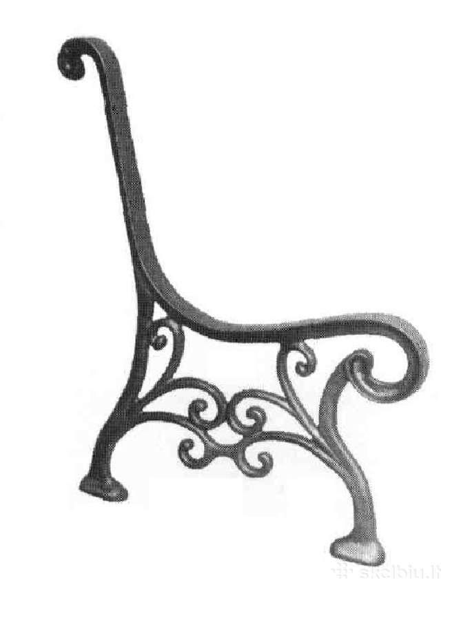 Parduodamas špyžinės (ketaus) suolų/stalų kojos