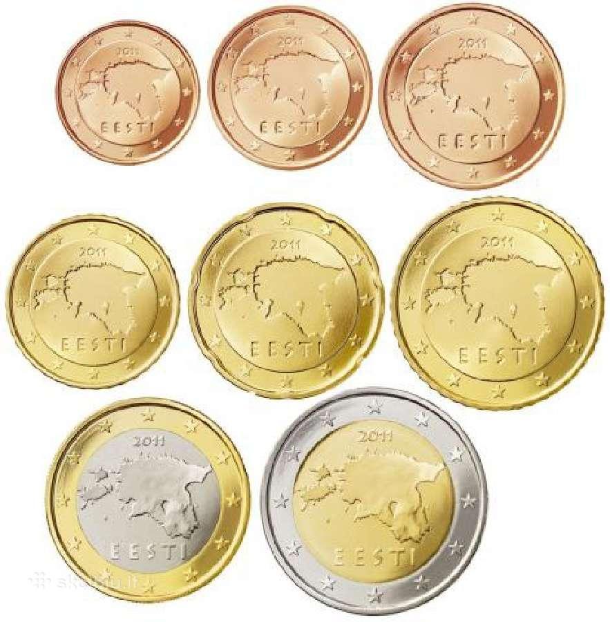 Estiški Unc eurai + 2eur jubiliejine
