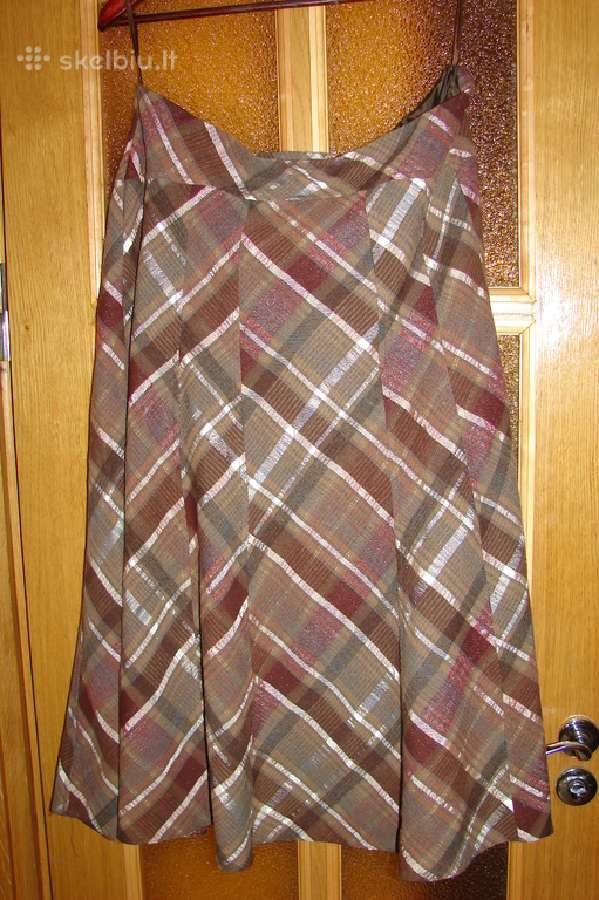 Puošnus, languotas Principles sijonas su pamušalu