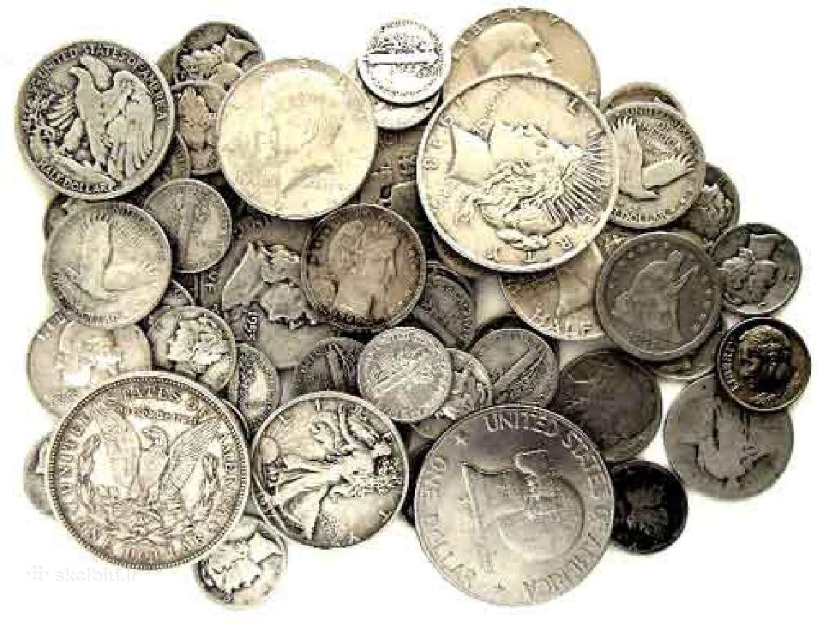Perku sugadintas sidabrines monetas
