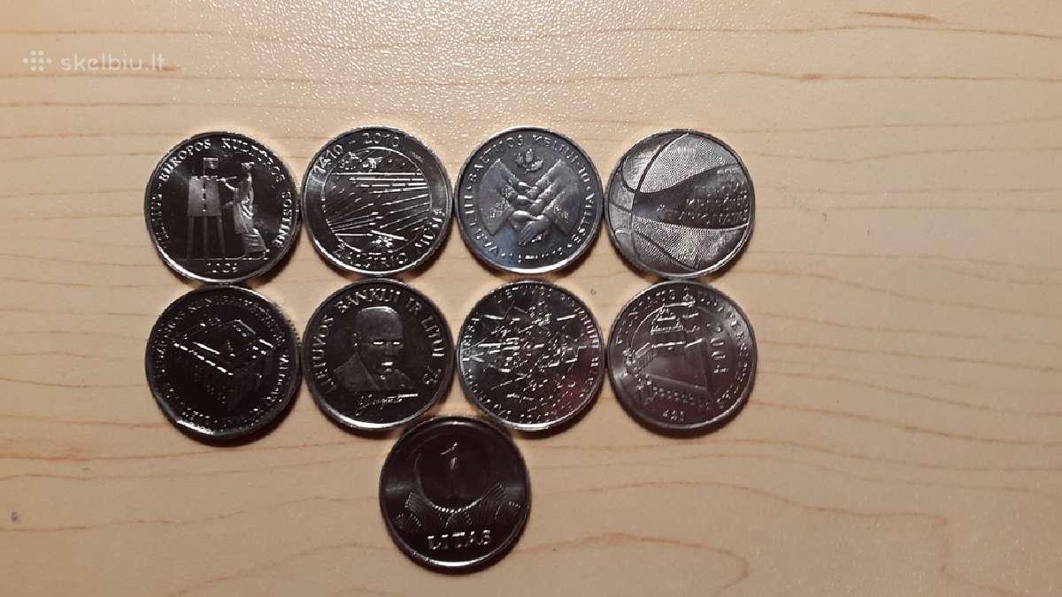 1 lt proginės monetos nebuvusios apyvartoje ( unc)