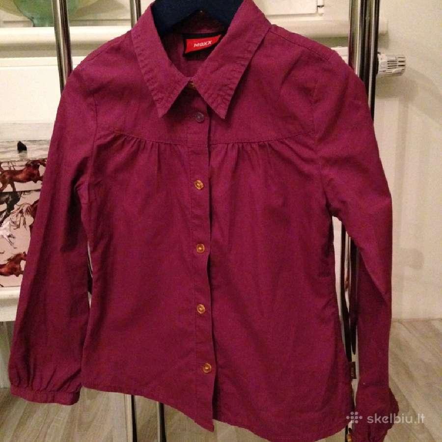 Mexx marškiniai merg. 110-116cm, Benetton- 130cm.