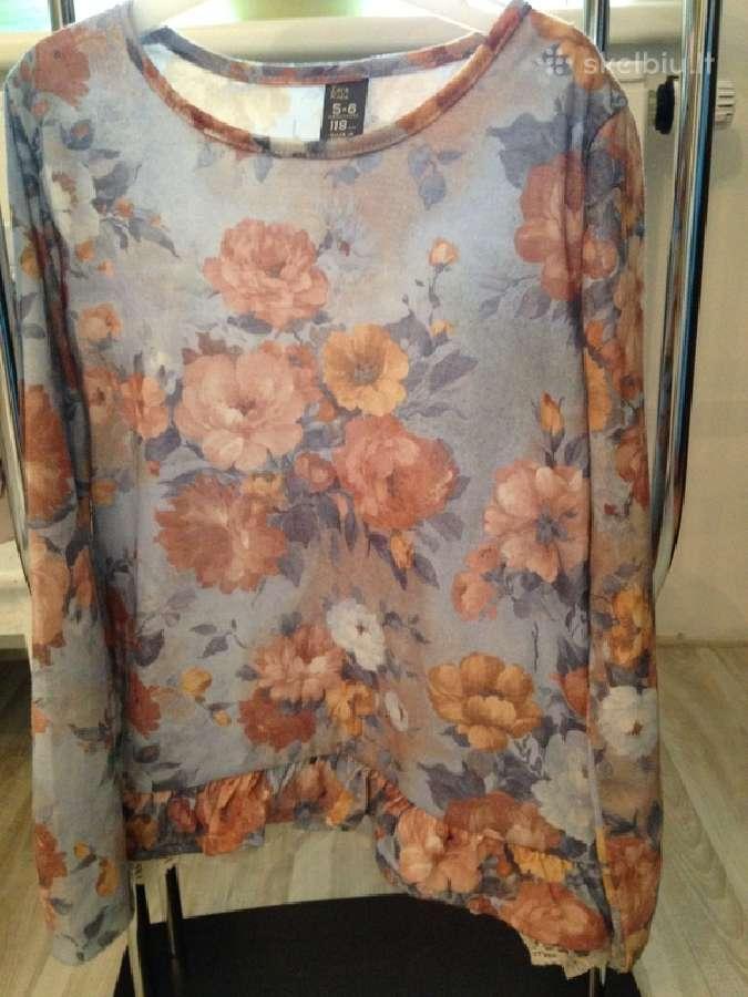 Zara marškinėliai mergaitei 118cm 3vnt.
