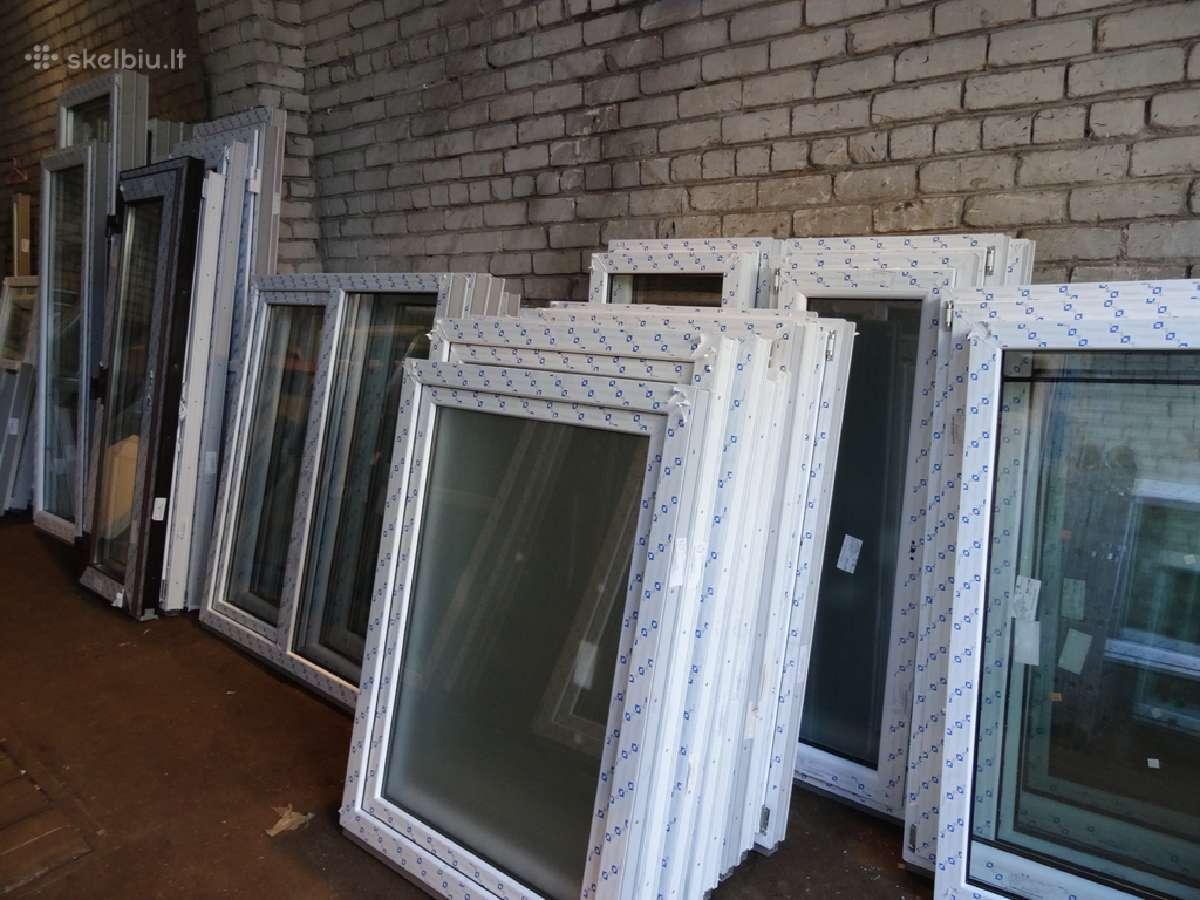 Nauji ir naudoti plastikiniai langai, išpardavimas