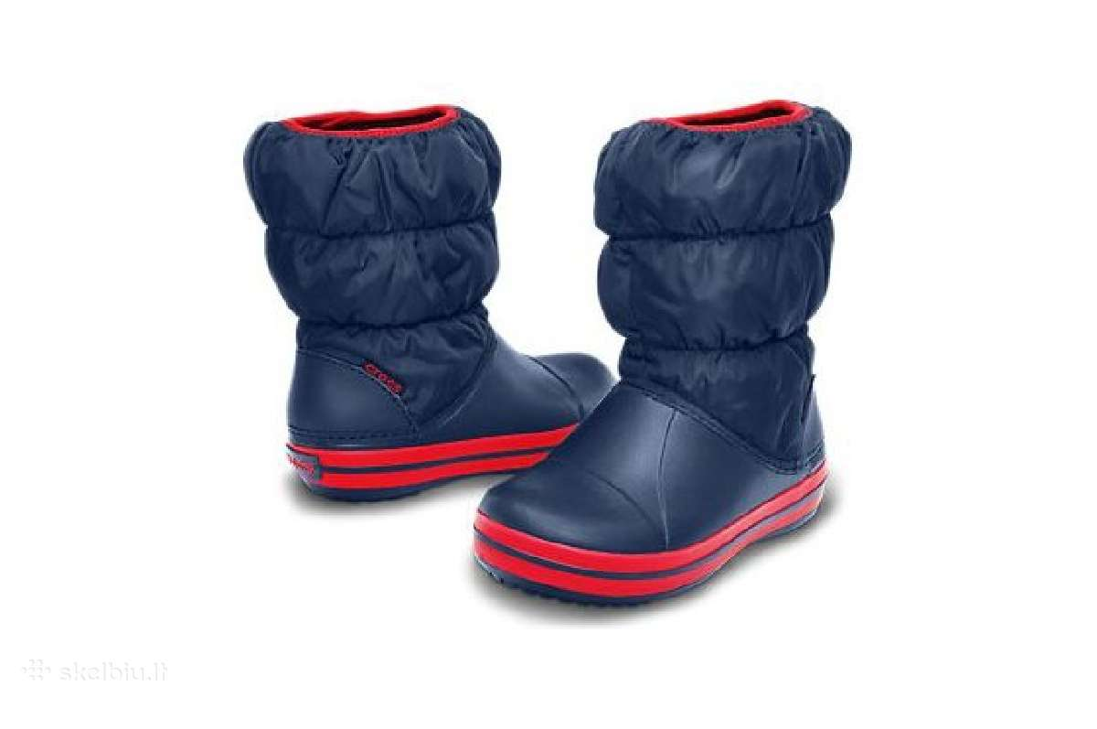 Nauji C11, C12, J1 crocs Winter Puff, mėlyni