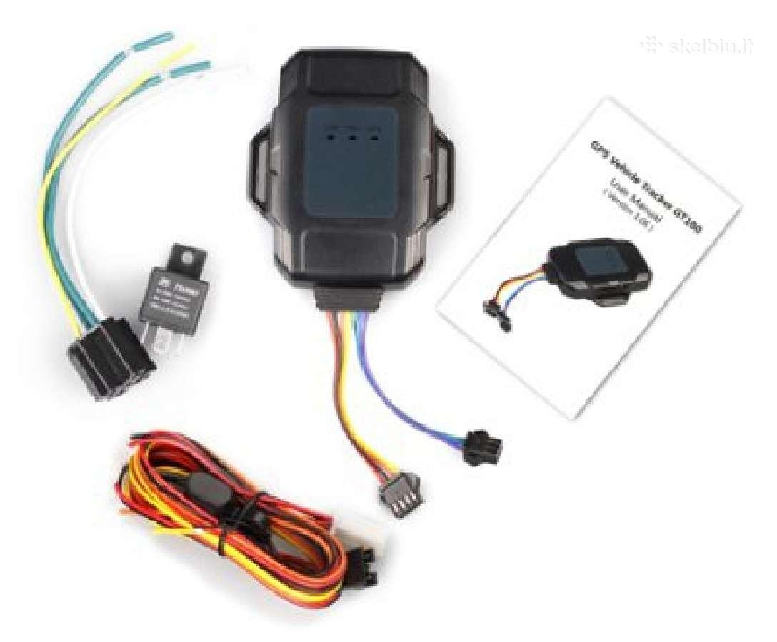 GPS seklys motociklui - kuro atjungimas Sms žinutė