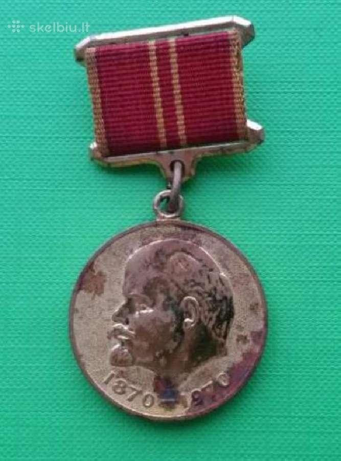 Tarybinis medalis uz karine narsa Leninas Retesnis