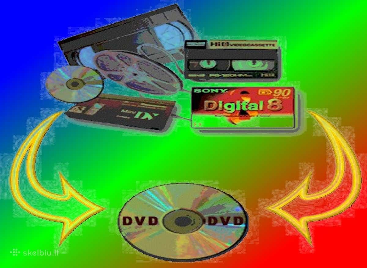 Video kasečių juostų perrašymas skaitmeninimas