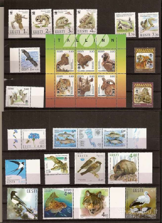 "Parduodu Estijos pašto ženklus tema ""fauna"""