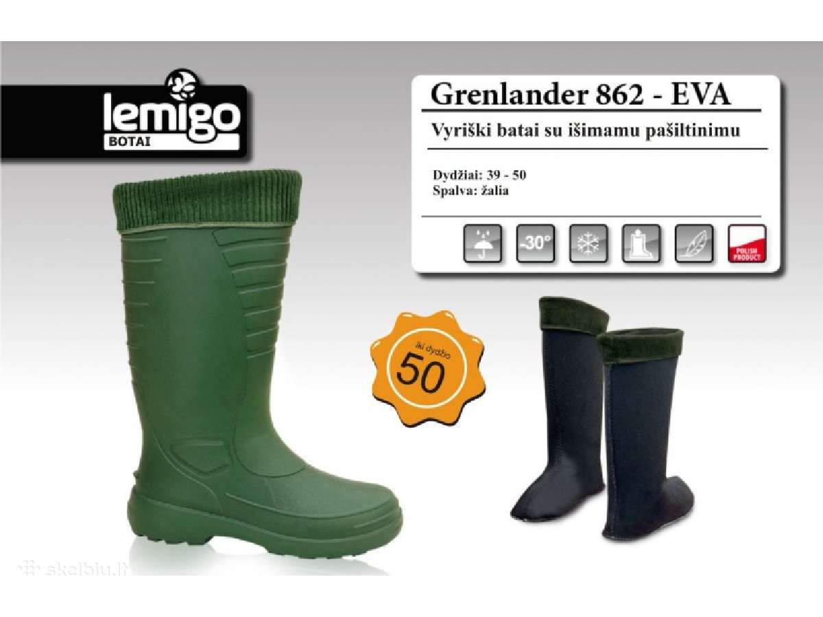 Labai lengvi, šilti Lemygo Grenlander batai -30c