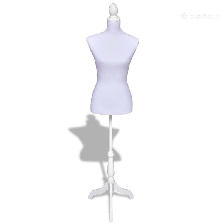 Moteriškas Siuvimo Manekenas, Baltas vidaxl