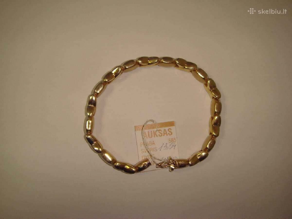 Auksine apyranke 585, 13.54g -380 Euro