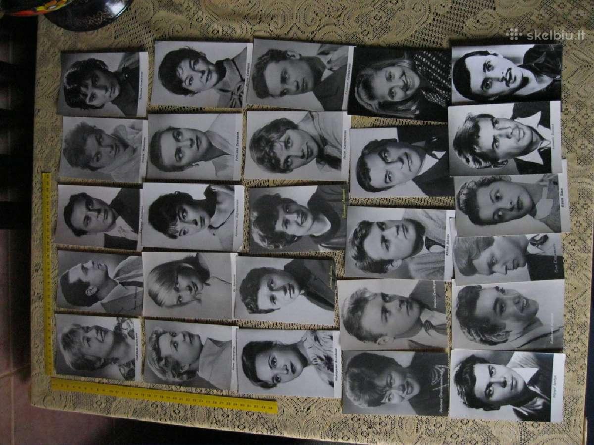 Sovietmečio atvirutes nespavotos.26 vnt.artistai
