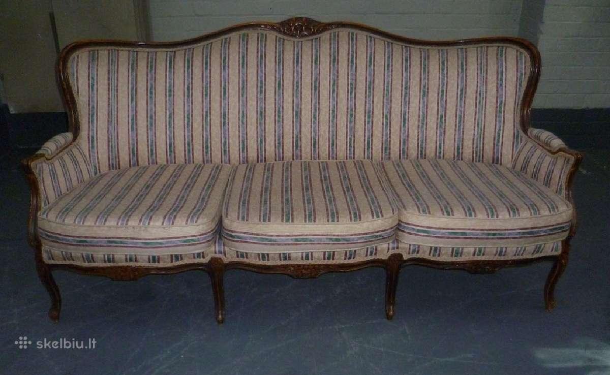 Sofa ir 2 foteliai