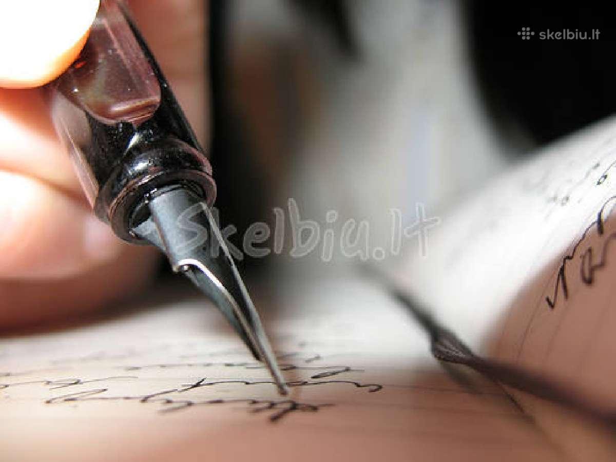 Aukštos kokybės Baigiamieji ir Kiti rašto darbai