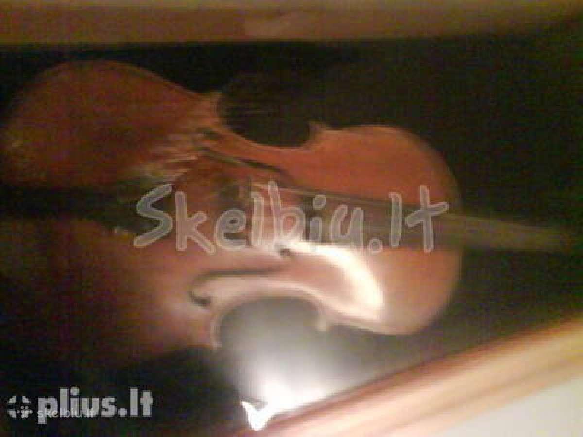 Antikvarinis 1876m. smuikas kaina 3000 eur.