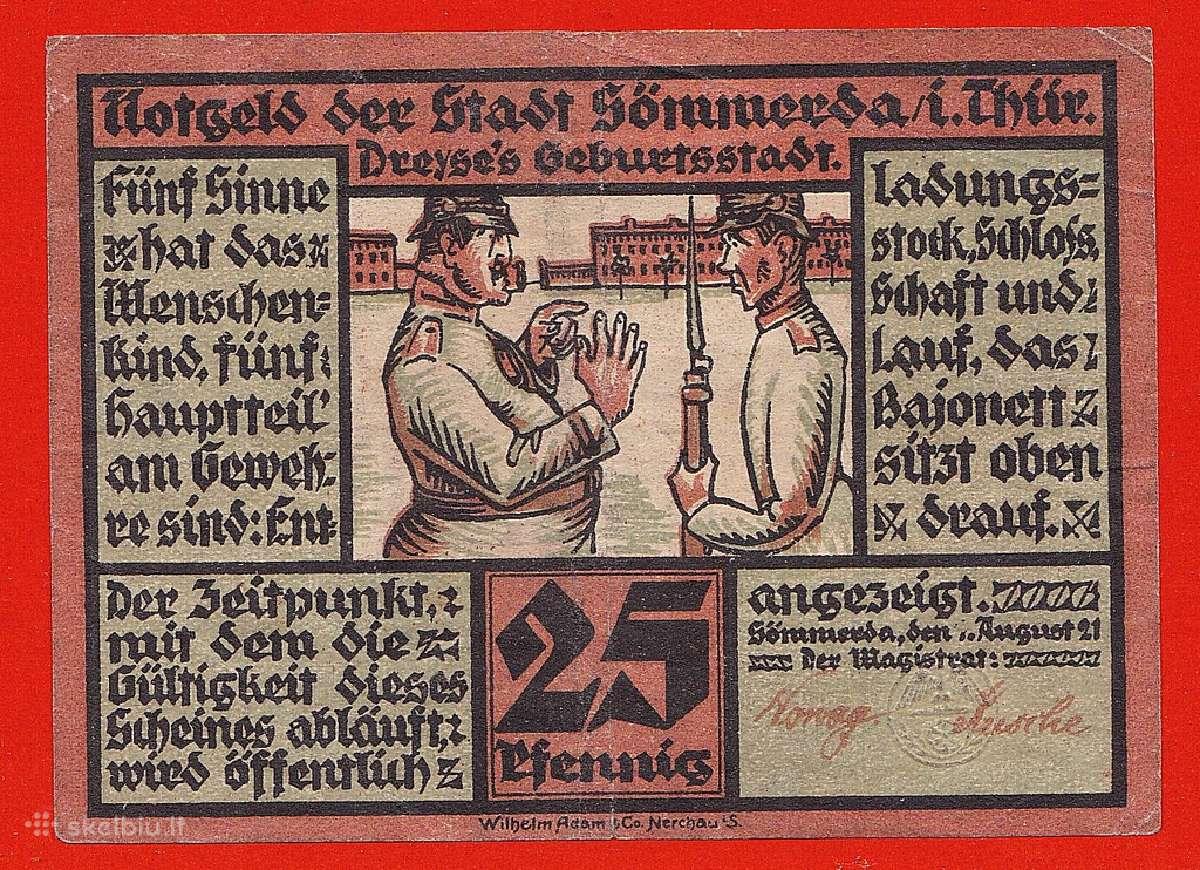 Vokietia 1921m. notgeld 25 pfennig N260+*