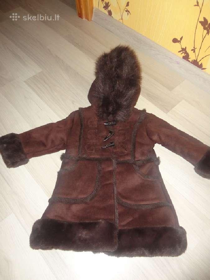Mergaitei kailinukai - paltukas, tik 8 eurai