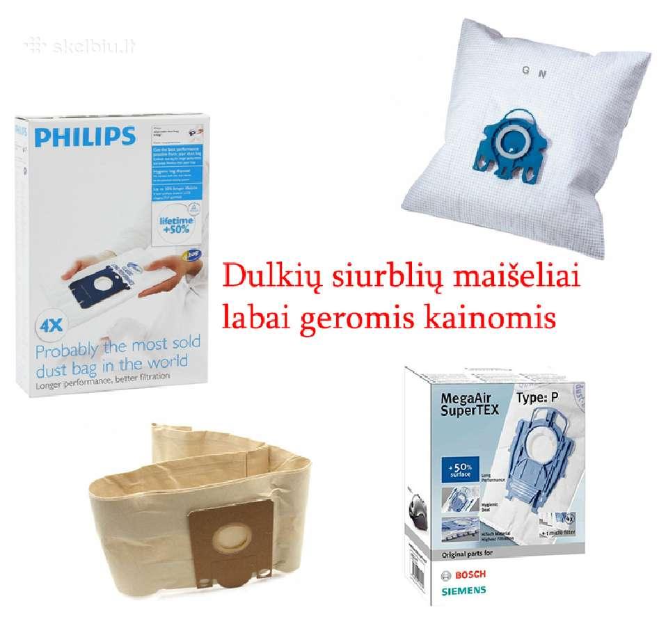 Dulkių siurblių maišeliai Aeg Philips Miele ir kt.