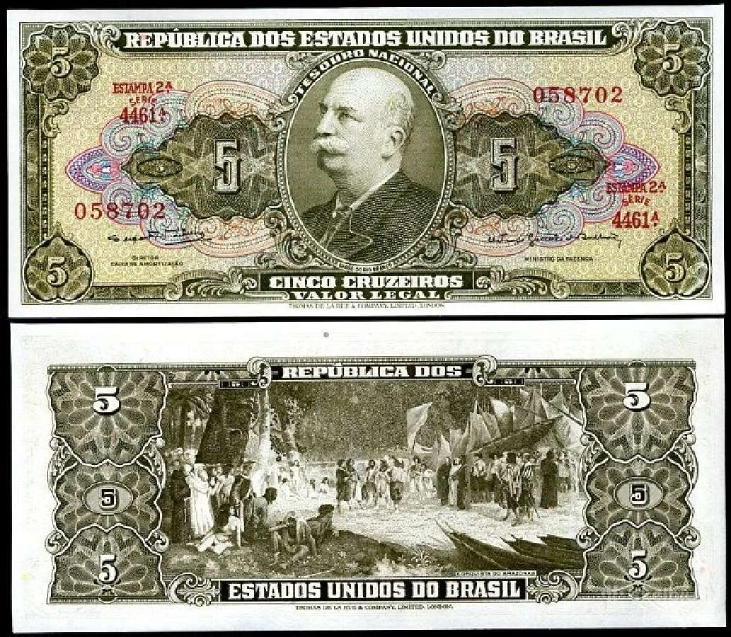 Brazilija 5 Cruzeiro 1964m. P176 Unc
