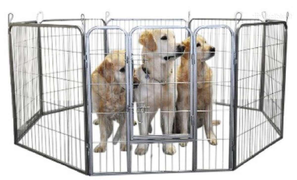 Tvirtos metalinės tvorelės šunims