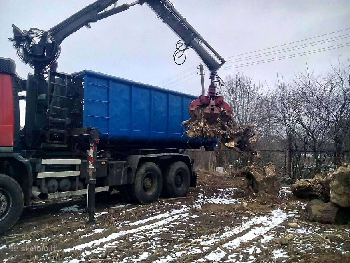 Medžių šakų,kelmų išvežimas su pakrovimu 20kūb.m.