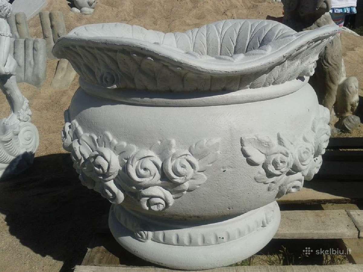 Išskirtinės betono Vazos skulptūros, fontanai Jums