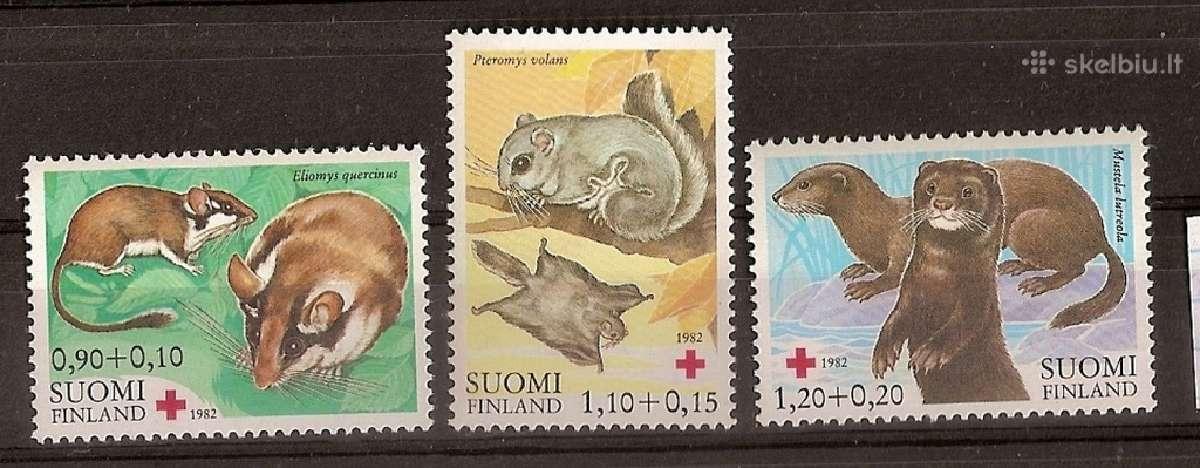 """Parduodu Suomijos ženklus tema """"fauna """""""