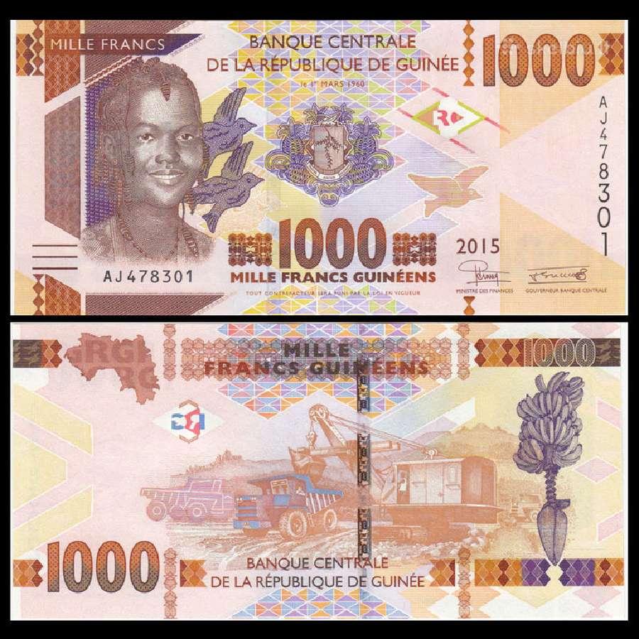 Gvineja 1000 Francs 2015m. Unc