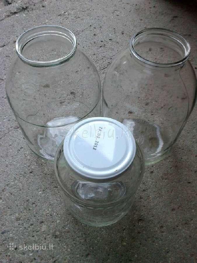 Stiklainiai uogoms/daržovėms, stiklinės talpos