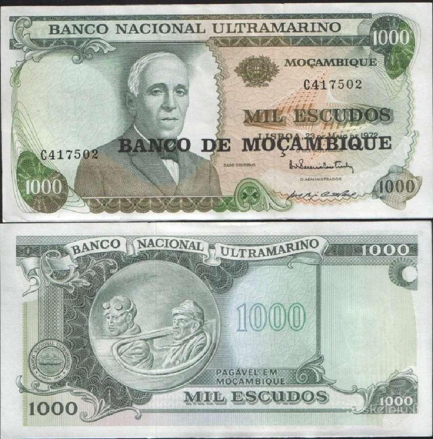 Mozambikas 1000 Escudos 1976m. P119 Unc