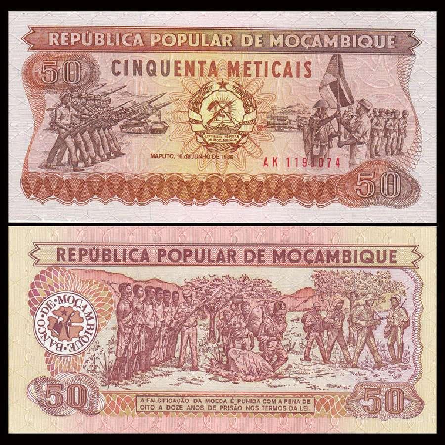 Mozambikas 50 Meticais 1986m. P129 Unc