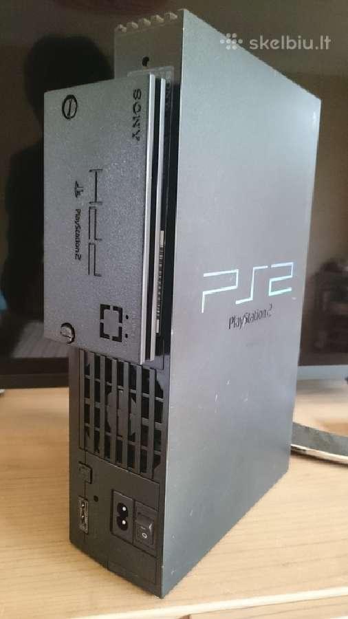 Playstation 2 su 120gb HDD ir daug žaidimų
