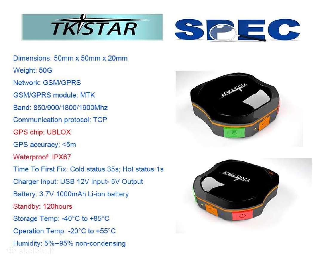 GPS trackeris (seklys) Tkstar Lk109