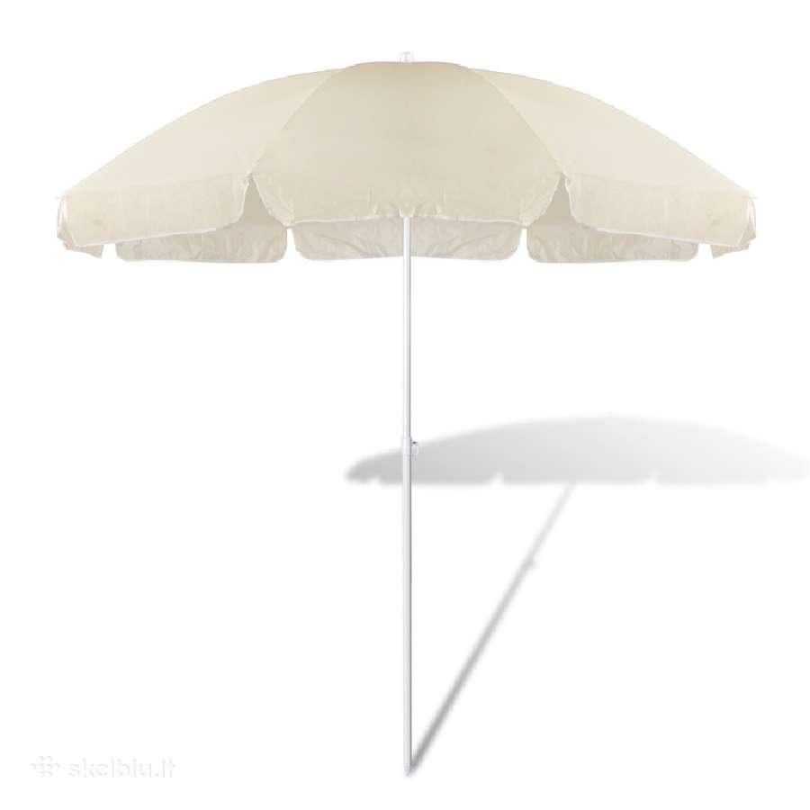 Smėlio Spalvos Paplūdimio Skėtis, 240 cm vidaxl
