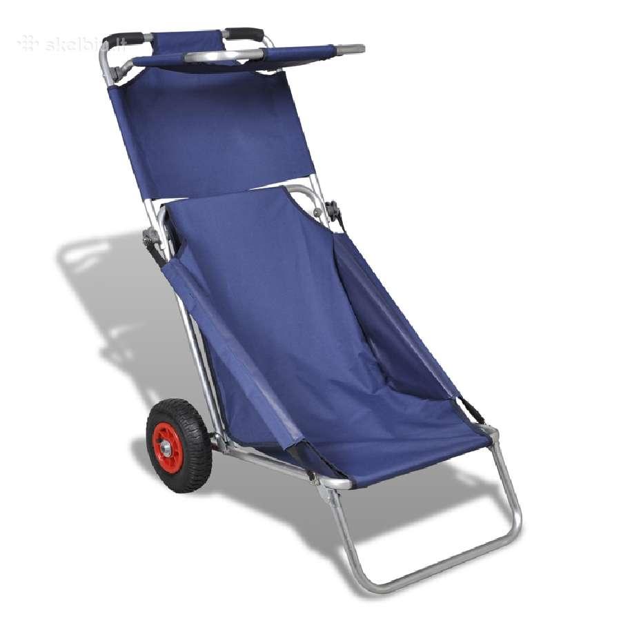 Nešiojamas Paplūdimio Vėžimėlis, Kėdė, Stalas
